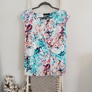 Ivanka Trump♡ Floral scoopneck sleeveless top